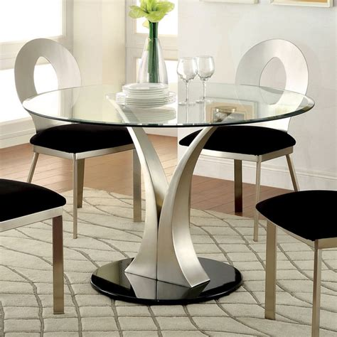elegant table l shades elegant contemporary glass top round dining table with v