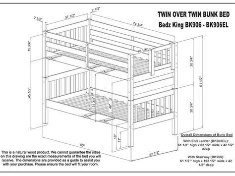 Bunk Bed Dimensions by Bunk Beds Stairway Honey 579 Bunk Bed King