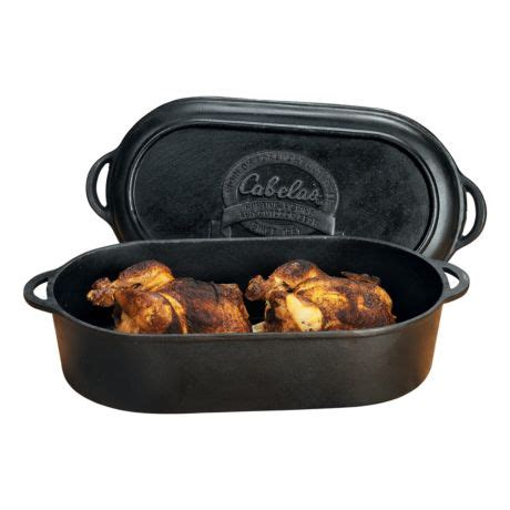 cabelas outfitter series cast iron oval roastergriddle