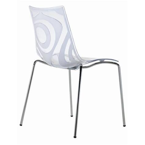 chaise transparente design chaise design transparente et blanche wave a achat