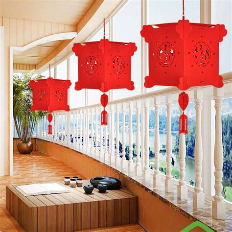 4d Diy Lanterns Wedding Decoration Non Woven Palace