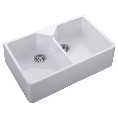 buy ceramic kitchen sink buy rak gourmet sink 10 white ceramic belfast style