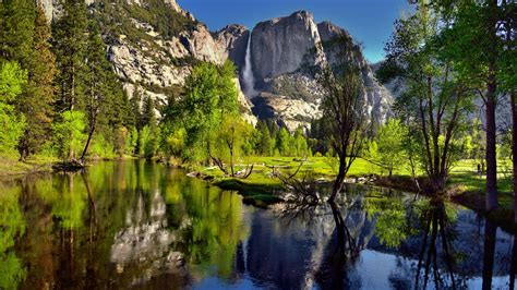 summer landscape view   merced river yosemite