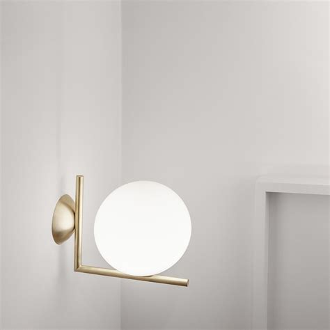 buy flos ic wall light brass amara