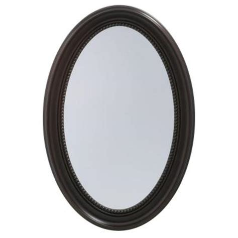 Oval Bronze Recessed Medicine Cabinet by Pegasus 20 In X 30 In Recessed Or Surface Mount Mirrored