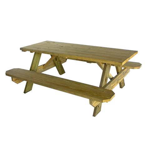 pbalok instant  yellow wood picnic table plans