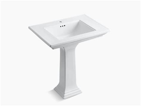 kohler memoirs pedestal sink 30 inch memoirs pedestal sink with stately design and single