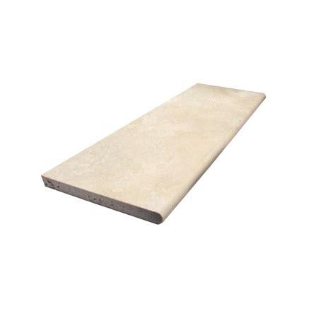tile board home depot ms international ivory travertine base board 4 in x 12 in