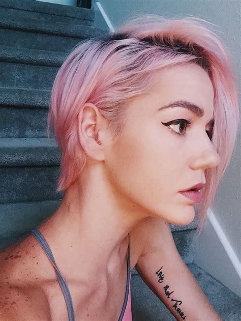 Best 25 Pastel Pixie Hair Ideas On Pinterest Pink Short