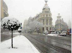 Una histórica nevada en toda España tiñe de blanco hasta