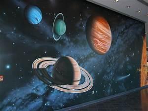 Space wall mural   For m' boys   Pinterest   Wall murals ...