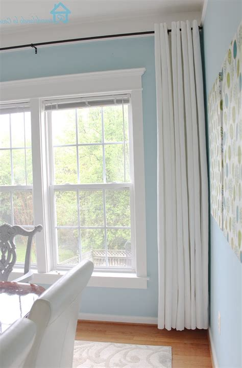 long curtains  short windows home design ideas