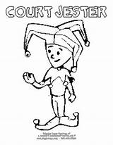 Coloring Pages Jester Court Halloween Costume Giggletimetoys sketch template