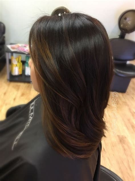 Black Or Brown Hair by Black Brown To Light Brown Balayage Ombre For