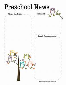 10 best images about preschool newsletter on pinterest With free april newsletter template