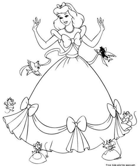 cinderella dress  coloring pages printable  girlsfree printable coloring pages  kids