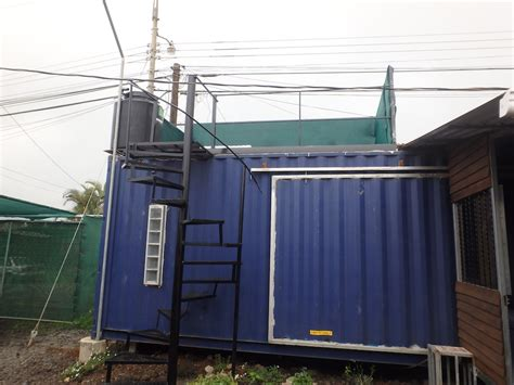 costa rica shipping container house   rooftop deck
