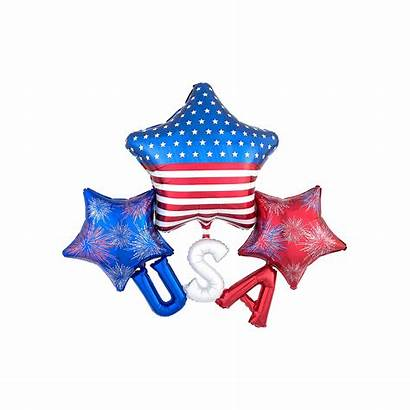 Usa Star Cluster Balloon Patriotic Balloons Party
