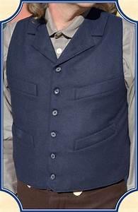 Navy Worsted Wool Notch Lapel Vest Heirloom Brand