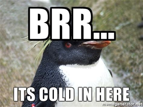 It S So Cold Meme - brrr its cold in here