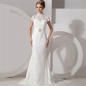 Chic photos of simple wedding dresses with sleeves sang for Simple lace wedding dress with sleeves