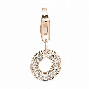 small diamond letter o charm pendant 003ct f i1 With diamond letter bracelet