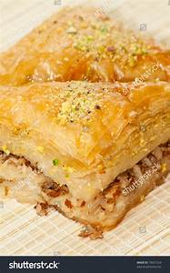 Baklava Turkish Greek Traditional Dessert Stock Photo ...