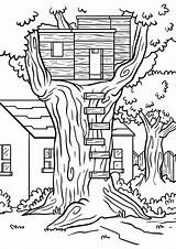 Coloring Tree Treehouse Pages Printable Jack Bathroom Magic Annie Both Communiti sketch template