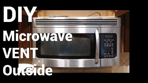 do over the range microwaves have fans over range microwave vent to outside youtube