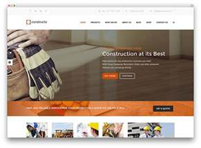 Top Photos Ideas For Home Construction Site 30 best construction company themes 2017 colorlib