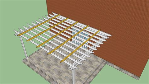 attached pergola plans howtospecialist how attached pergola plans how to build plans free