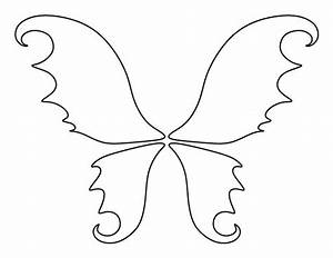 fairy wings pattern use the printable outline for crafts With fairy cut out template