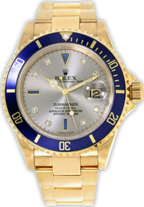 Rolex 16618 Yellow Gold on Oyster Blue | Ermitage Jewelers