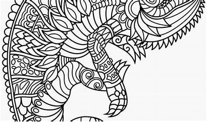 Coloring Mandala Coloriage Animal Adult Animals Pdf