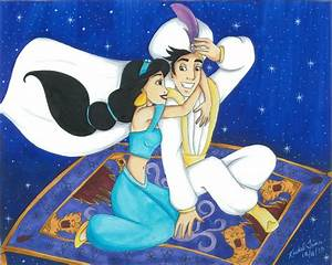 Magic carpet ride by chelleface90 on deviantart for Aladdin and jasmine on carpet wallpaper