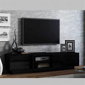 Meuble Tv Noir : meuble tv sigma ii noir azura home design ~ Teatrodelosmanantiales.com Idées de Décoration