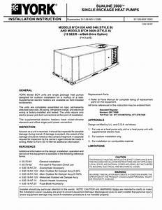 York Heat Pump Fuse Box