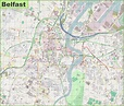 Large detailed map of Belfast