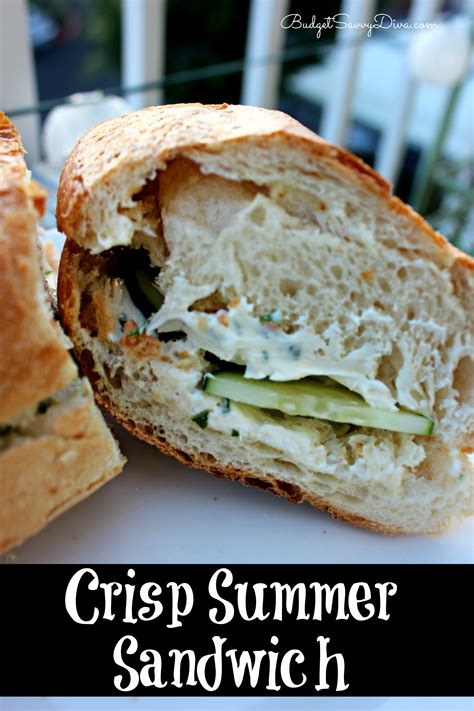 summer sandwich recipes crisp summer sandwich recipe budget savvy diva