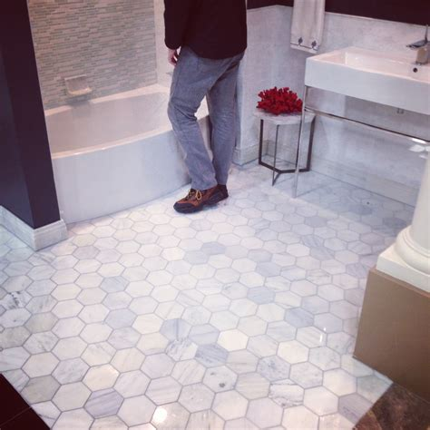 2 Hexagon Marble Floor Tile by 5 Inch Hexagon Carrara Marble Tile Bathroom Floor Park
