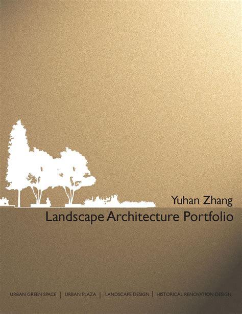 13243 landscape architecture portfolio cover landscape architecture portfolio by yuhan zhang issuu