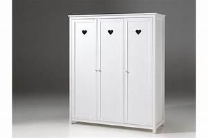 Armoire Laqué Blanc : armoire 3 portes blanc laqu sarah cbc meubles ~ Teatrodelosmanantiales.com Idées de Décoration