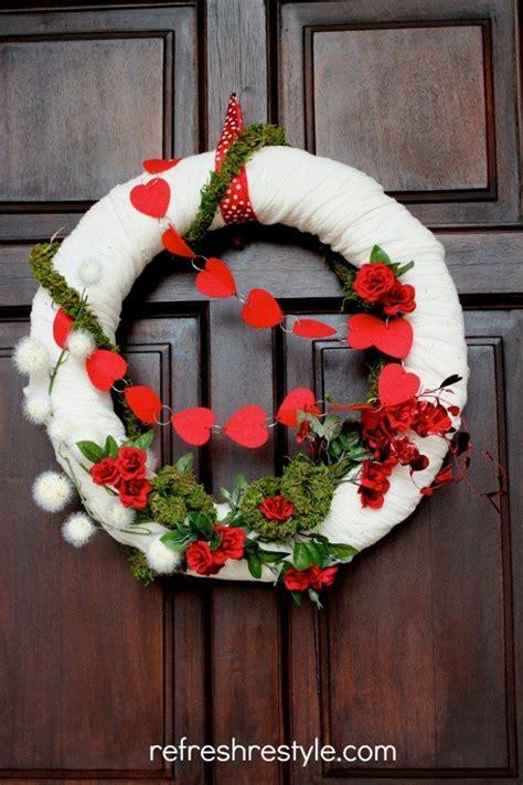 valentine wreath refresh restyle