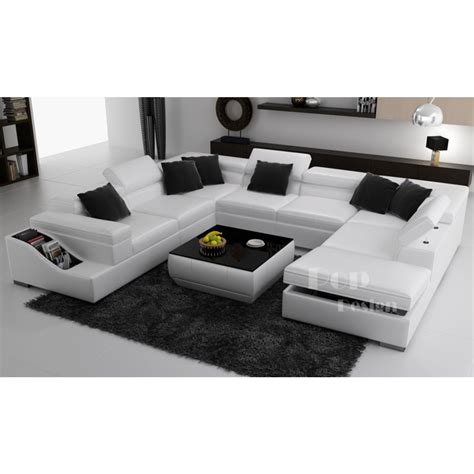 canapé en l canapé d 39 angle panoramique en cuir jazzy canapés en u