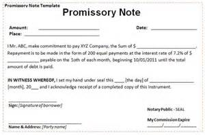 Loan Promissory Note Template for Family