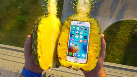 Can a Pineapple Protect iPhone 6s From Extreme 100 FT Drop ...