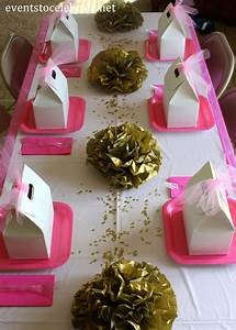 Pink And Gold Quinceanera Decorations Archives Events To