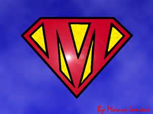 Superman Logo with Letter M