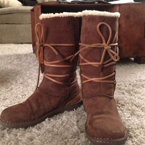80 ugg boots ugg sole tie up boots from amanda