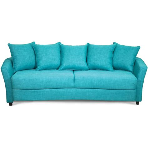 turquoise settee casual contemporary turquoise sofa bed marana rc